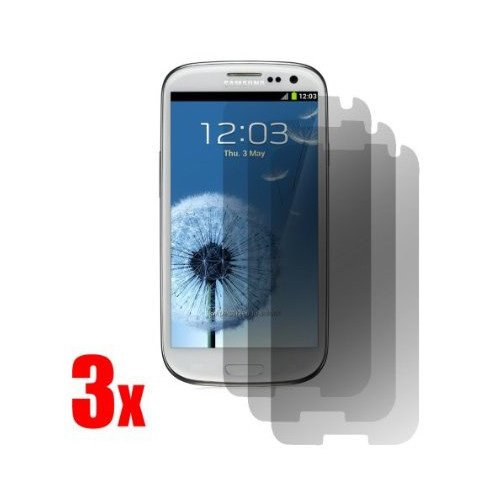 SODIAL (R) Schirm-Schutz fuer Samsung-Galaxie S3 S III AT & T, T-Mobile, Sprint, Verizon / i9300 3 Stueck in 1 Packung (S Phone Galaxy 3 Sprint)