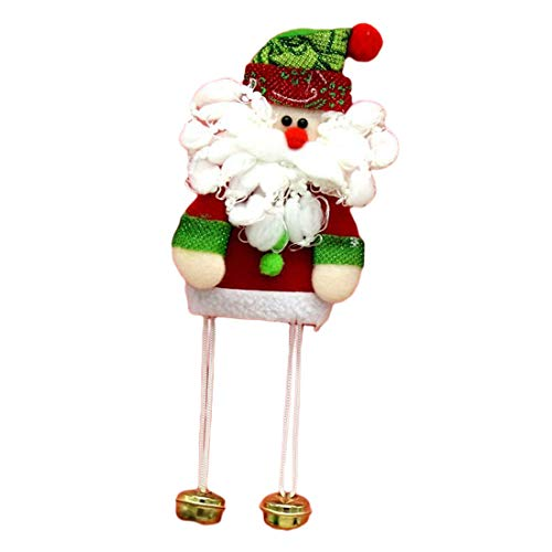 1pcs Santa Pendant Christmas Tree Ornaments Hanging With Jingle Bells Decoration Length 23cm - Tree Easter Ornaments Ornament Storage Outdoor Christmas Hooks Stand Willow ()