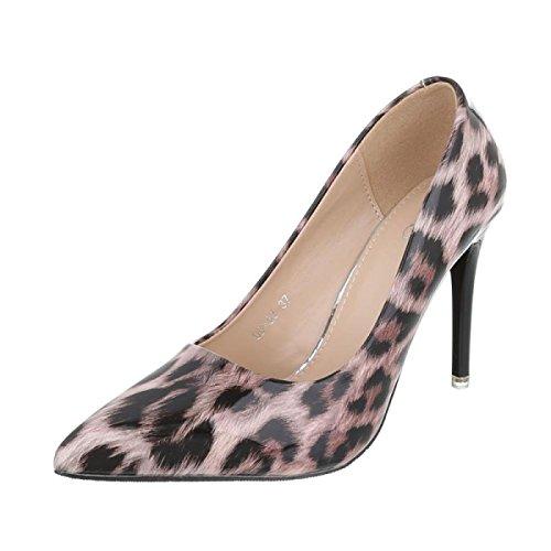 Cingant Woman Damen Pumps/Stilettoabsatz/High Heels/Damenschuhe/Elegante Schuhe/Leopardenmuster/Pink, EU 36