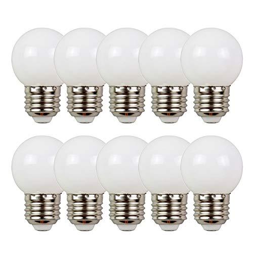 10er Pack Farbige Glühbirnen LED 2W E27 G45 Beleuchtung Glühbirnen, LED Farbige Golf Kugel Glühbirne für Haus Dekoration, Garten, Party, Hochzeit, Weihnachten, Feier