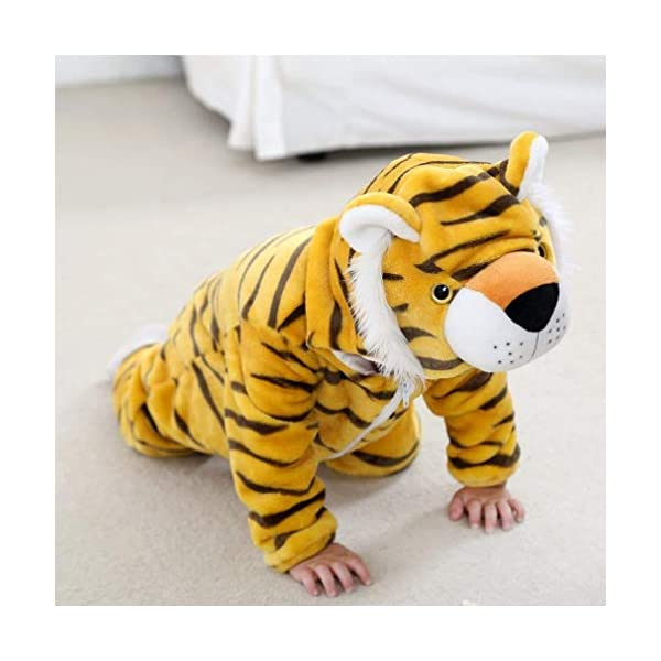 Bebé Ropa Mameluco Niños Niñas Pelele Pijama de Primavera y otoño Franela Traje de Animales 2