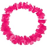 S/O - Lotto di 10 collane hawaiane con fiori rosa, decorative (0460)