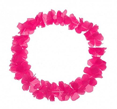 S/O 10er Pack Blumenkette Pink einfarbige Blüte Blumenketten Hawaiikette Hawaiiketten Hawaii Kette Blume Bumen Halskette Halsketten Deko