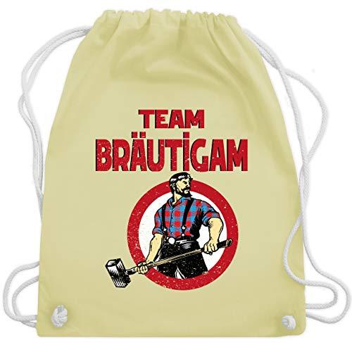 JGA Junggesellenabschied - Team Bräutigam JGA Comicfigur - Unisize - Pastell Gelb - WM110 - Turnbeutel & Gym Bag