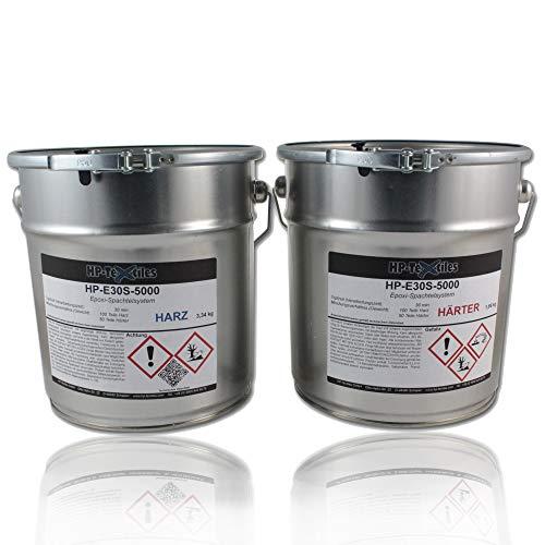 Epoxid-Harz-Spachtel 5kg | Hervorragende Haftung auf zahlreichen Untergründen | Lösemittelfreie Zwei-Komponenten Epoxy Spachtelmasse aus Harz und Härter | HP-E30S