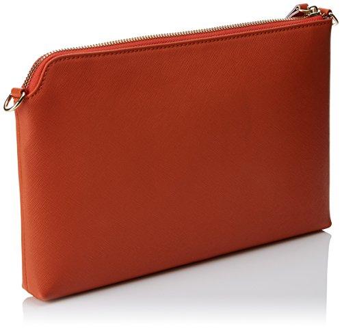 Roberto Verino Damen Clutch Lisa, 3x18x29 cm Orange