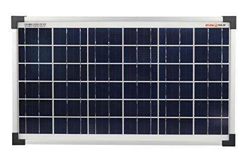 enjoysolar® Poly 20W Solarmodul Solarpanel Polykristallin 20Watt 12V ideal für Garten Wohnmobil Caravan