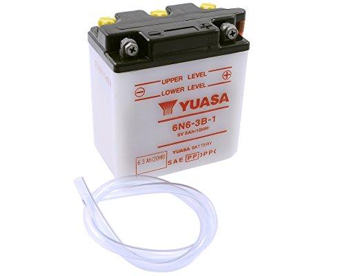 Batterie YUASA - 6N6-3B-1 für YAMAHA DT175 Enduro 175 ccm Baujahr 78-81 [inkl. 7,50 EUR Batteriepfand]