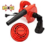 Jakmister 600 W, 70 Miles/Hour Electric Air Blower Dust PC Vacuum Cleaner (Red)
