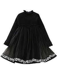5cc44315b145c YFCH Enfant Fille Robe de Princesse Manches Longues Sweat Robe de Cérémonie  ÉléganteHiver Automne