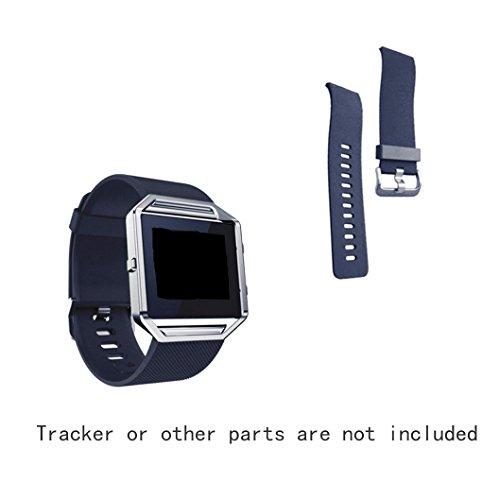 Fitbit Blaze JOMOQ polsini in Silicone, bracciali/polsini di attività Wireless Silicone Accessories-Orologio da polso con fibbia di chiusura, per braccialetti Fitbit Blaze
