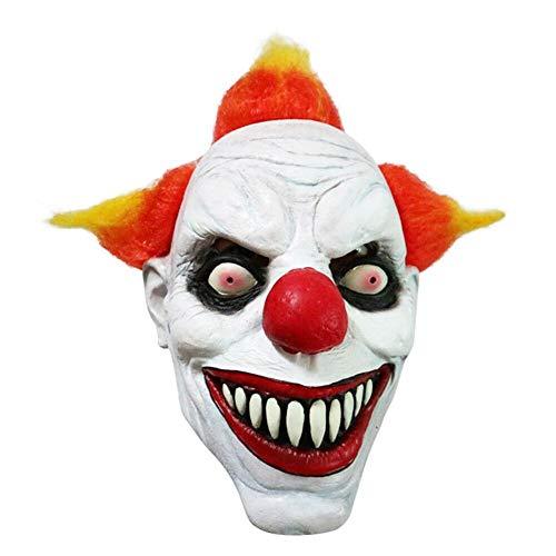 Halloween Gruselige Clown-Maske Vollgesicht Kostüm Böse Gruselige Horror Cosplay