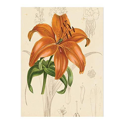 Osmanthusfrag pittura vintage poster da parete ornament fiori colorati tela camera da letto decorativa, tela, 4#, 21 * 30cm