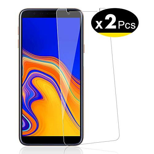 NEW'C Verre Trempé pour Samsung Galaxy J4 Plus / J4+ (SM-J415F), [Pack de 2] Film Protection écran - Anti Rayures - sans Bulles d'air -Ultra Résistant (0,33mm HD Ultra Transparent) Dureté 9H Glass