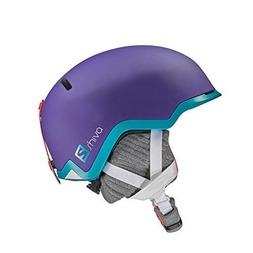 Salomon, Damen Ski- und Snowboardhelm für Freeride/Snowpark, EPS 4D, Größe S, Kopfumfang 55-56 cm, SHIVA, Violett, L39123300