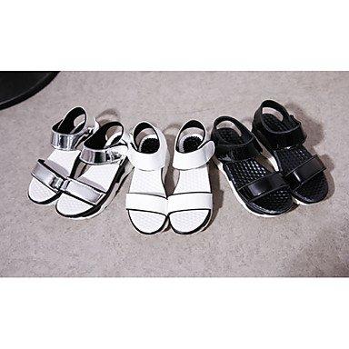 LvYuan Da donna-Sandali-Formale Casual-Comoda-Piatto-PU (Poliuretano)-Nero Bianco Argento Silver