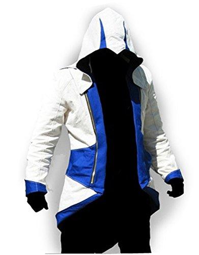 AZ Importers -  Felpa con cappuccio  - Uomo Blue And White
