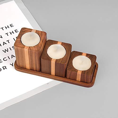 Massivholz Quadrat Kombination Aromatherapie Kerzenhalter Zuhause Wohnzimmer Studie Restaurant Dekoration Holz Handwerk Geschenk Modernen Minimalistischen, Starken Sinn For Dreidimensionale Gut gemach