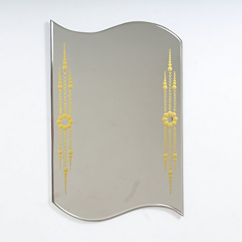 Quality Glass Glass And MDF Decorative Wall Mirror (18''x24, Silver, Asymmetric Shape)