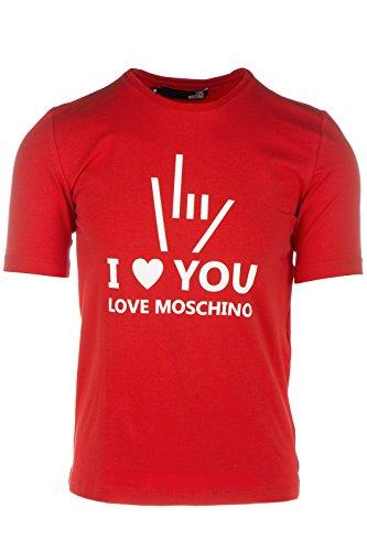 Love Moschino t-shirt maglia maniche corte girocollo uomo rosso EU M (UK 38) M 4 731 02 E 1514 O9