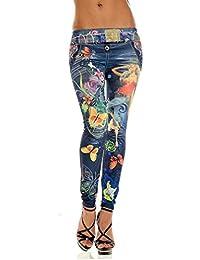 Rawdah Mujeres Skinny Azul Jean denim Pantalones leggings elásticos jeggings