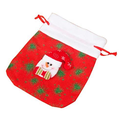 Weihnachten Leinen Bundle Pocket Gift Bag Candy Bag Schneemann Apple Bag Kindergarten