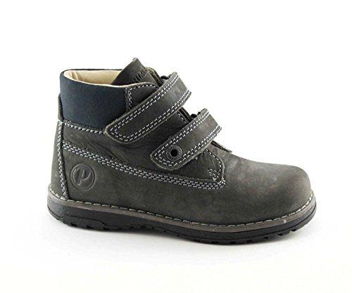 PRIMIGI 60530 28729 28/29 grigio scarpe bambino scarponcino strappi pelle Grigio