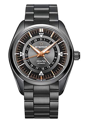Eterna kontiki Herren Uhr analog Automatik mit Edelstahl Armband 1598.33.41.1722