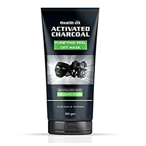 Healthvit Activated Charcoal Purifying Peel off Mask, 50g