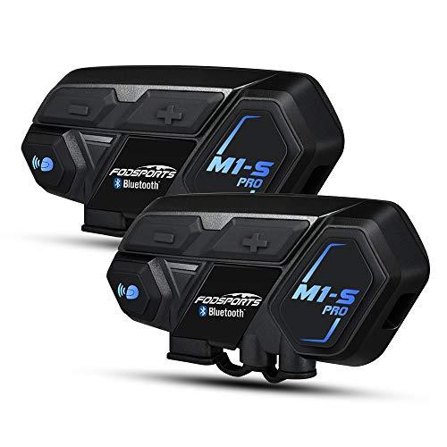Moto Intercom Bluetooth 4.1 Headset für Kommunikation Systems Kit, unterstützt 8 Gruppen Team, Freisprecheinrichtung, Telefonhörer mit Mic für Motorrad, Ski Moto Bluetooth-headset