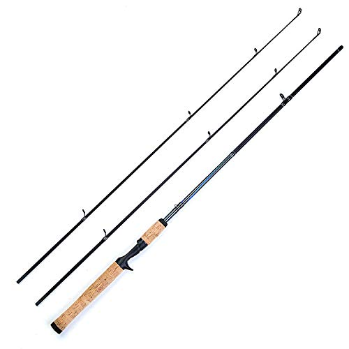 Love every day Fishing Rod Carp, Hard Fast Action Casting Fishing Rod Carbon Fishing Pole,Red,1.8 M
