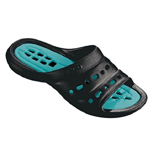 BECO Aqua Wasser Strand Slipper Slip am Pool auf Pool Schuh Schuhe schwarz (9027) schwarz - schwarz