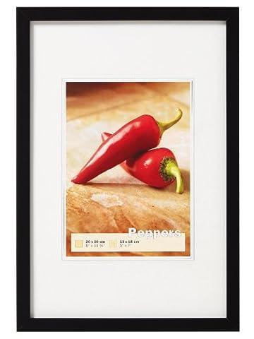 walther design BP342B Peppers Bilderrahmen, Holz, schwarz, 29,7 x 42 cm