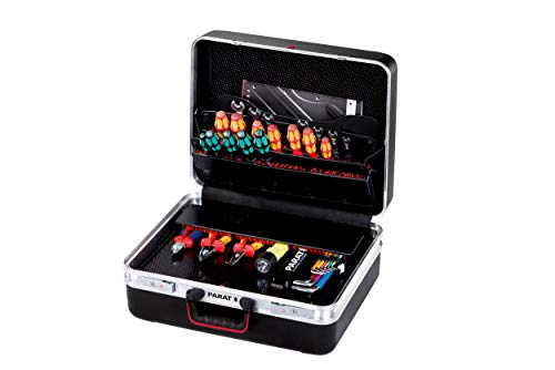 Parat CLASSIC KingSize TSA LOCK Werkzeugkoffer (Ordnungssystem CP-7 - 2 Schlüssel, 1 Längssteg 3 Querstegen, 49 x 41 x 23 cm, ohne Inhalt) 589.070.171