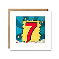 James Ellis - Age 7 Kapow Shakies Birthday Card - PK2672
