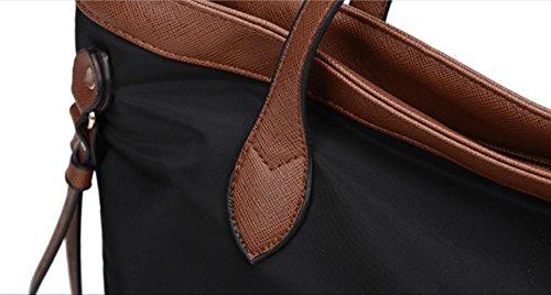 FZHLY 2017 Nuova Borsa A Tracolla In Tessuto Oxford Stile Coreano Impermeabile,Black Brown