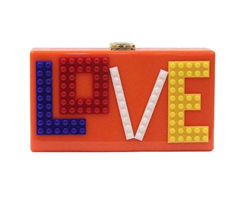 Strawberryer Europe Et Les États-Unis Dîner En Acrylique Embrayage Bâtiments Star Holding LOVE KTV Nightclub Décoration Orange