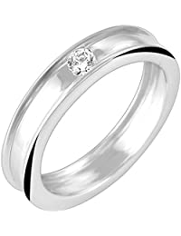Valentine Gift : Peora Kayona Solitaire Ring In 925 Sterling Silver CZ For Men (Silver) (PR8080)