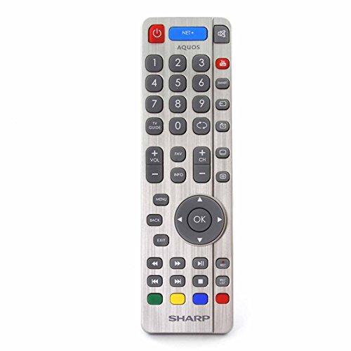 Fernbedienung für Sharp Aquos NET+ RF Ultra HD 4K Smart LED TV'S - Mit zwei 121AV AAA Batterien enthalten