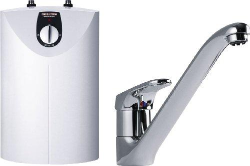 STIEBEL ELTRON 222173 offener Kleinspeicher SNU 5 SL mit Einhebel-Armatur MAE-K für Spüle, untertisch, 5 l, 2 kW (Warmwasserspeicher Für Häuser)