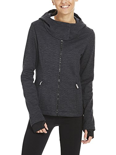 Bench Damen Jacke Knit Hoody, Schwarz (Black Beauty Bk11179), Large (Schwarze Knit Jacke)