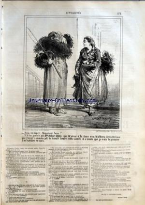 CHARIVARI (LE) du 07/11/1864 - M. ERNEST BLUM - LA SEMAINE DE LA BOURSE