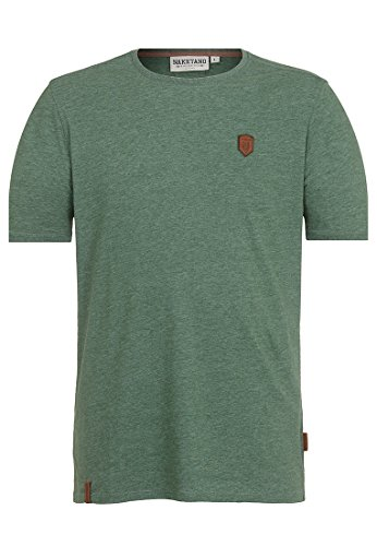Naketano Male T-Shirt Italienischer Hengst Pine Green Melange, XL (Pine Green Bekleidung)