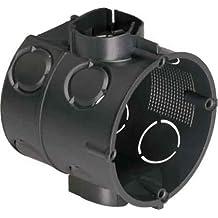 10x Unterputz Schalter Abzweigdose Ø 60 mm, 63 mm tief mit Tunnelstutzen