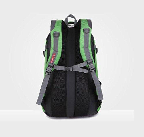 Z&N Backpack 40L GroßE KapazitäT Wasserdichtes Nylon Outdoor-Sport-UmhäNgetasche Reise-Bergsteigen Rucksack Aufbewahrungsbeutel Mehrzweck-Camping Freizeit Reitkoffer GepäCk Tasche A