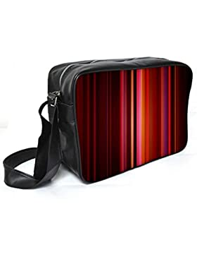Snoogg Abstrakt rot Strahlen Leder Unisex Messenger Bag für College Schule täglichen Gebrauch Tasche Material PU