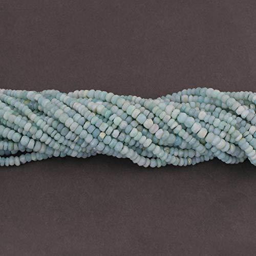 GEMS-WORLD BEADS GEMSTONE Big Halloween Sale 1 Strand Boulder Opal Faceted Rondelles - Bolder Opal Roundel Beads 4mm-5mm 13 Inches ISR342 13 Boulder