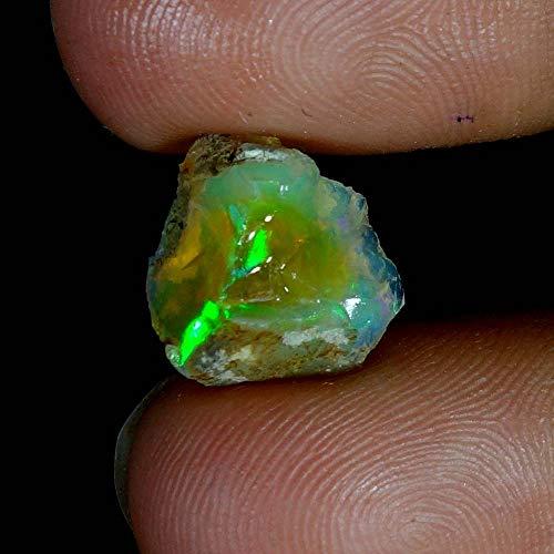 RADHEY Krishna GEMS 04.00Cts. 100% natürlicher äthiopischer Multi Fire Opal Facette rauer Exemplar Edelstein Cts-monitor