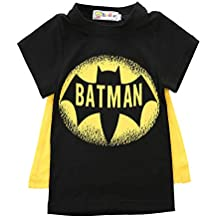 878ac8bce Ropa Bebe NiñA Verano NiñOs PequeñOs Boy Superman Camiseta Ropa Camisa  Color Batman Chal Camiseta Manga