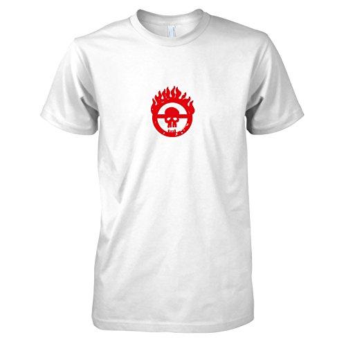 TEXLAB - Mad Fury - Herren T-Shirt Weiß